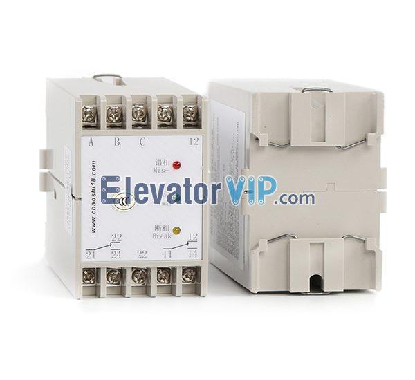 Shanghai chaoshi18 AC Circuit Protector, OTIS Elevator Three-Phase AC Protection Relay, Chaoshi Elevator Relay, OTIS Elevator Protection AC Relay, ABJ1-122X, ABJ1-122