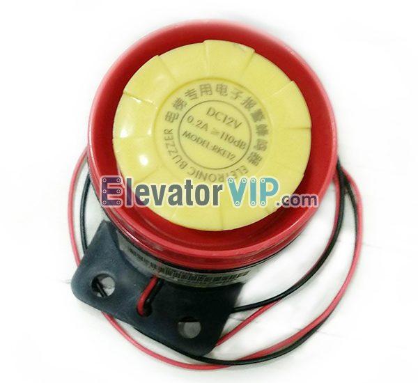 Elevator Alarm Buzzer, Lift Electronic Bell, DELING Buzzer Supplier, RKE12, RKE06, RKE24, DC12V Alarm Buzzer, Lift High Decibel Bell DC06V, Decibel Alarm Buzzer DC24V
