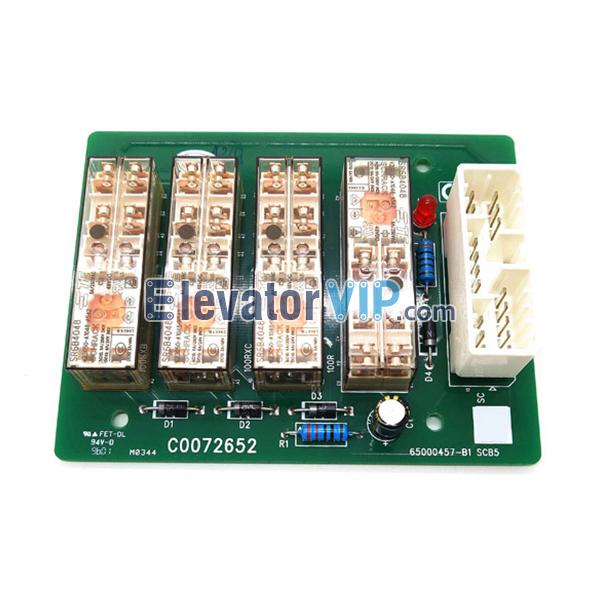 Hitachi Elevator Control Cabinet Relay Board, C0072652, 65000457-V20, SCB5 PCB, 65000457-B, 65000457-B1