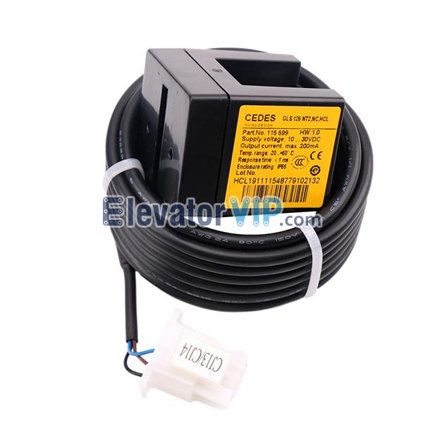 OTIS Elevator Leveling Sensor, CEDES Leveling Sensor, CEDES Lift Sensor, GLS 126 NT. NC. HCL, CEDES GLS 126 NT2. NO, GLS 126 NT2. NC. HCL