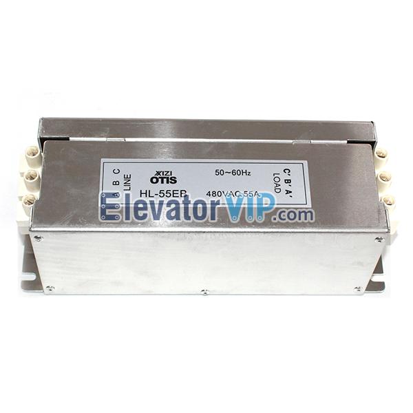 OTIS Elevator Noise Filter, HL-55EB, Elevator Filter Supplier, Filter 480VAC 55A