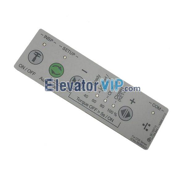 Elevator V15 Door Motor HMI Keypad, Elevator V35 Door Operator Keypad, DDE-V35 Keypad Supplier, ID.NR.59350643