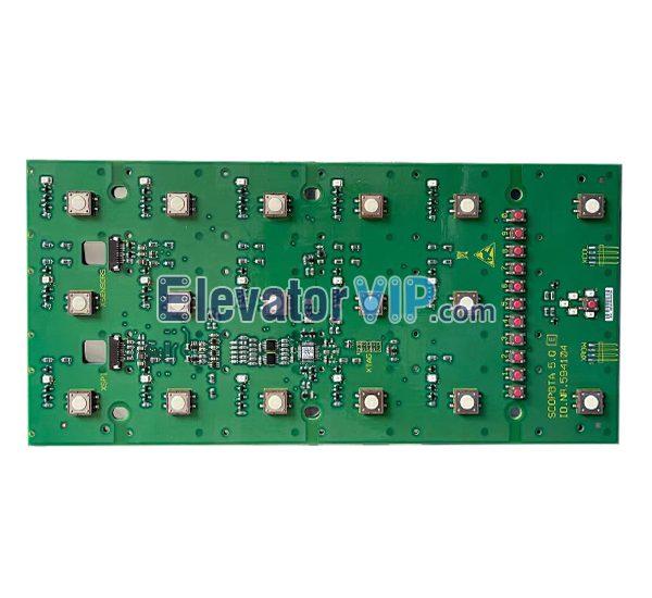 3300AP Elevator COP Push Button Board, 3600 Lift Cabin Push Button PCB, ID.NR.594104, ID.NR.594103, SCOPBTA 5.Q