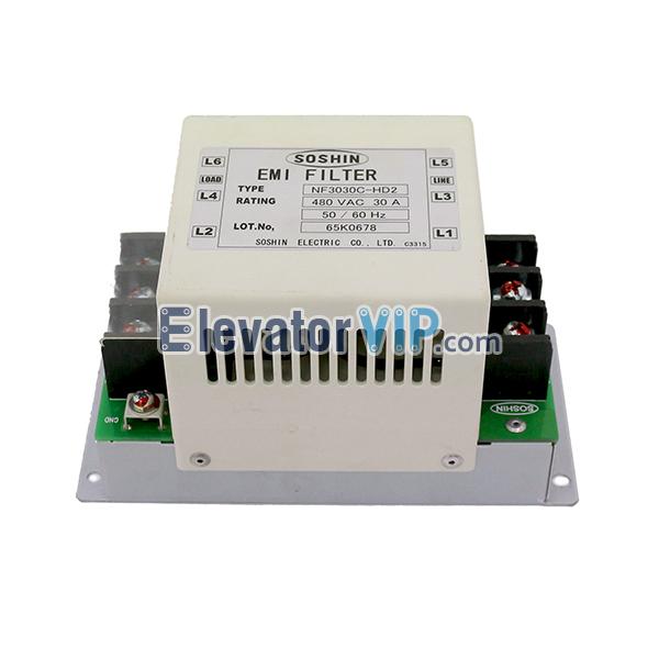 Hitachi Elevator Noise Filter, Hitachi Lift EMI Filter, Elevator EMI Filter Supplier, NF3060C-SBX, NF3030C-HD2