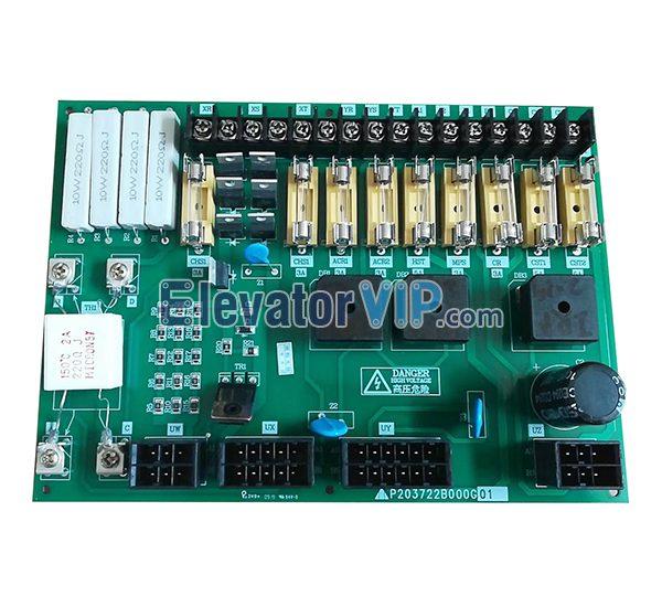 Mitsubishi Elevator Power Supply Board, KCN-710A, P203722B000G01, P203750B000G01, P203722B000G03, P203722B000G05