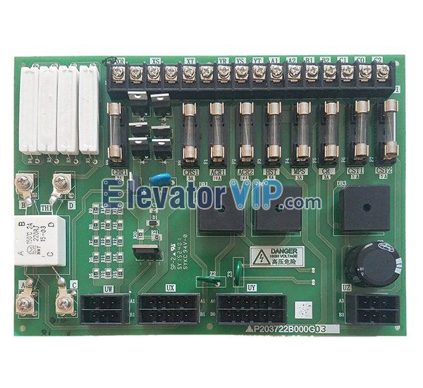 Mitsubishi Elevator Power Supply PCB, P203722B00G01, P203750B00G01