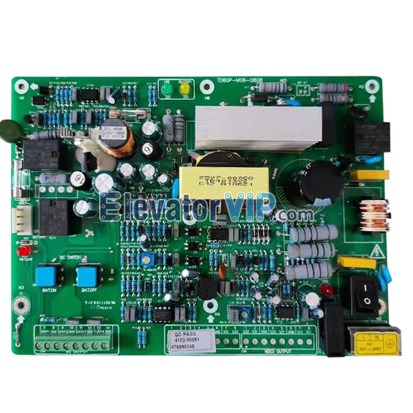 Mitsubishi Elevator Emmergency Power Supply Board, Mitsubishi Lift UPS PCB, TD80P-M06-0808, TD80P-M01-0703
