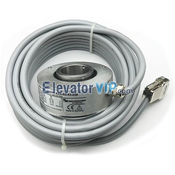WACHENDORFF Elevator Encoder, WDG 100H-38-4096-ABN-I05-K3-D56