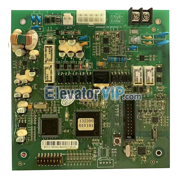 Hitachi Lift Community Digital Intercom Terminal Board, Hitachi Elevator Intercom Terminal PCB, Hitachi Elevator Car Roof Digital Intercom Board, 65000442-V11, DIS2000D-4L