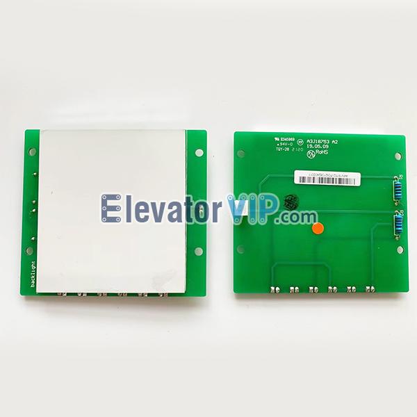 OTIS Elevator Floor Indicator Light PCB, OTIS Elevator Floor Display Board, OTIS Lift Floor Arrival Display, A3J18753