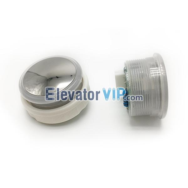BST Elevator Push Button, Elevator Push Button Supplier, Elevator Push Button Stainless Steel Mirror Arc Surface, BST Lift Push Button Arc Surface White Light, A4J12877 A1, A34J12877 A1, A4J12877A1