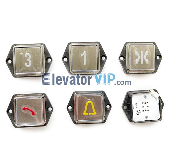 BST Square Elevator Push Button, A4J19277, A4N19278