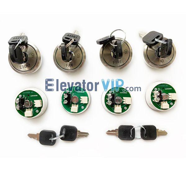 Elevator Base Station Lock, Elevator HOP Power Supply Lock, Elevator Landing Door Lock, A4J19289 A3, A4N19290