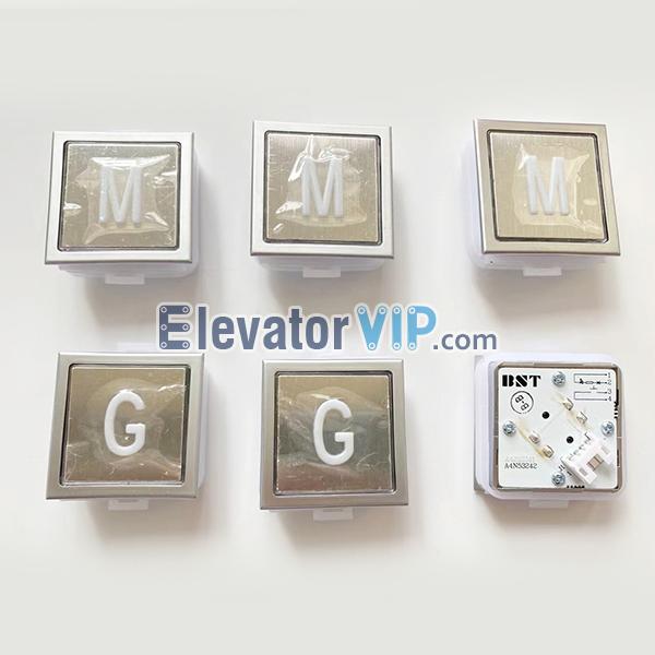 BST Elevator Push Button Square, SJEC Elevator Push Button, FUJI Elevator Push Button, A4N53242, A4J53241, BAS11C