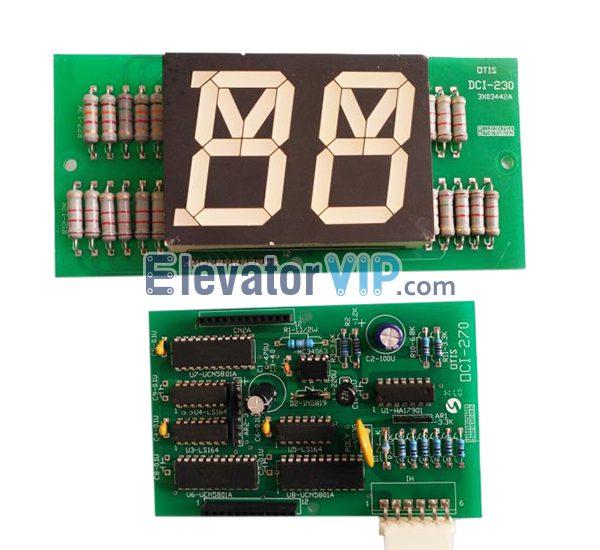 LG Otis Elevator DSS Landing Door Display, Sigma Lift Landing Door Display Board, DCI-230, DCI-270