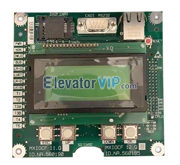 5500 Elevator Control Cabinet Display Board, MXIOCF 11.Q, MXIOCF 12.Q, ID.NR.560190, ID.NR.560185