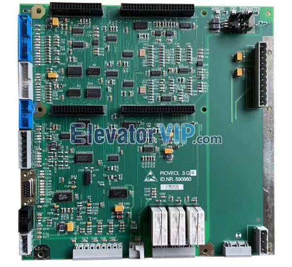 300P Elevator VF85 Inverter Board, Elevator Drive Control PCB, PIOVECL 3.Q, ID.NR.590880
