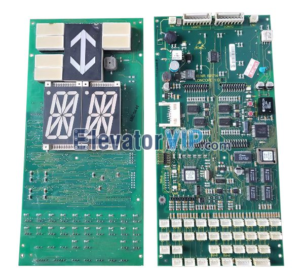 5400 Elevator Cabin LOP Indicator, 5400 Lift Car LOP Display PCB, ID.NR.591714, ID.NR.594398, LONCOPE 1.Q