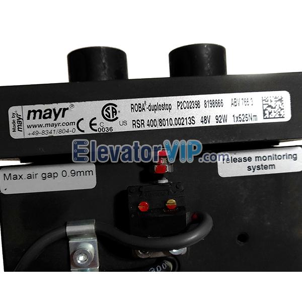 OTIS Elevator Traction Machine Brake, Toshiba Lift Tractor Brake, mayr Release Monitoring System, RSR 400/8010.00213S, RSR400 Elevator Brake, 350Nm mayr Brake, mayr Elevator Host Brake