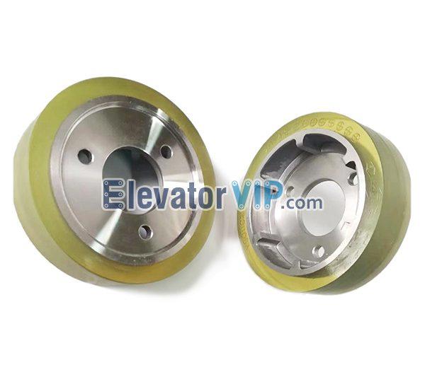 Mitsubishi Escalator Friction Wheel, Mitsubishi Travelator Drive Groove Roller, Mitsubishi Escalator Handrail Drive Roller, Mitsubishi Escalator Pressure Roller, 132*35 Roller, YSO11C272G01, 132*35*44 Escalator Roller
