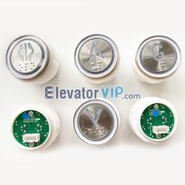 Thyssen Elevator Push Button, BST Elevator Push Button, A4J27492, A4N27493