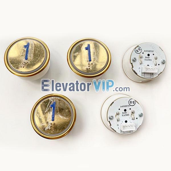 SJEC Elevator Push Button, SJEC Lift Push Button Braille, Elevator Push Button Red Light, A4J28796, A4N28797, KAS901