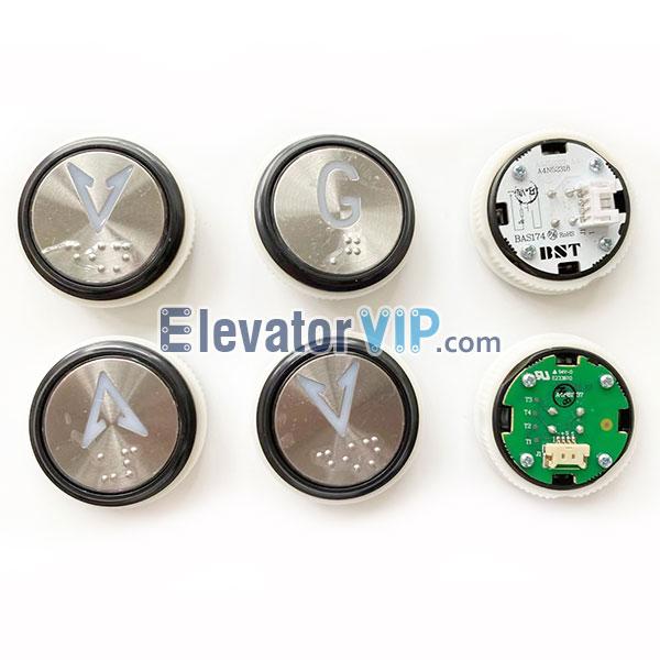 BST Elevator Push Button, Elevator Push Button Supplier, A4J52317, A4N52318, BAS174, Lift Push Button Braille