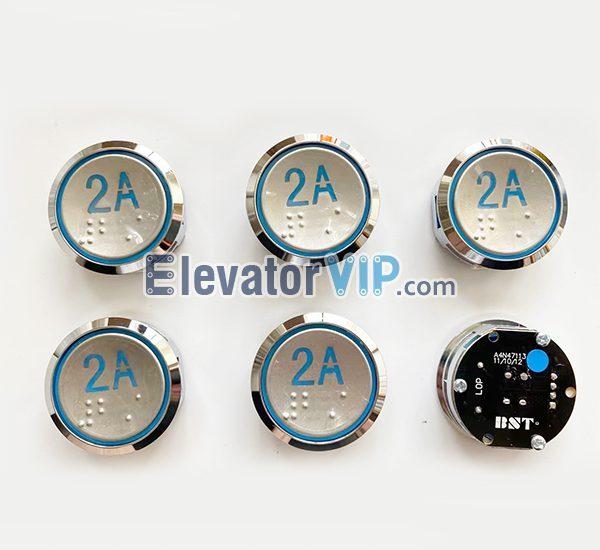Hyundai Elevator COP Push Button, Hyundai Lift LOP Push Button Round, BST Elevator Push Button Supplier, A4N47113, A3N47113, A4J47114