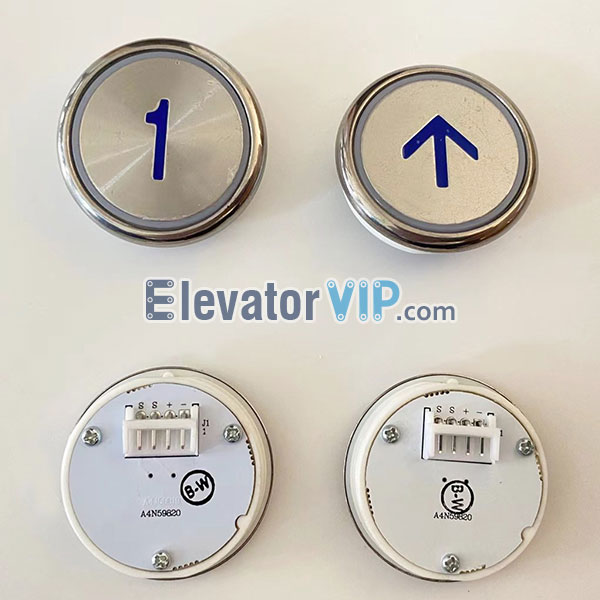 BST Elevator Push Button, BST Lift Push Button Blue, BST Elevator Push Button White Light, A4N59820, A4J58919