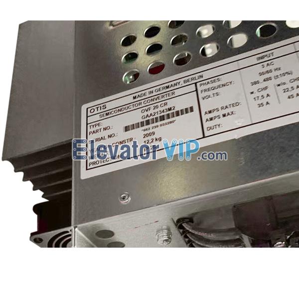OVF20 CR Inverter, OTIS Elevator Drive Inverter, OVF20CR, GAA21343M2