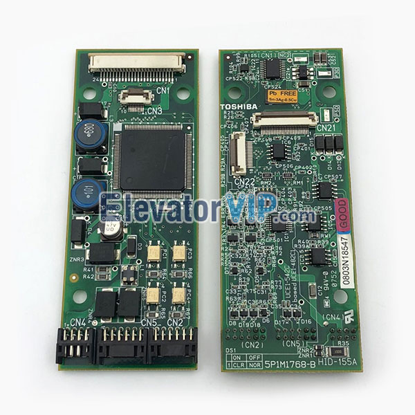Toshiba Elevator CV330 LOP Board, Toshiba Elevator HOP Indicator PCB, HID-100A, HID-155A, 5P1M1768-B