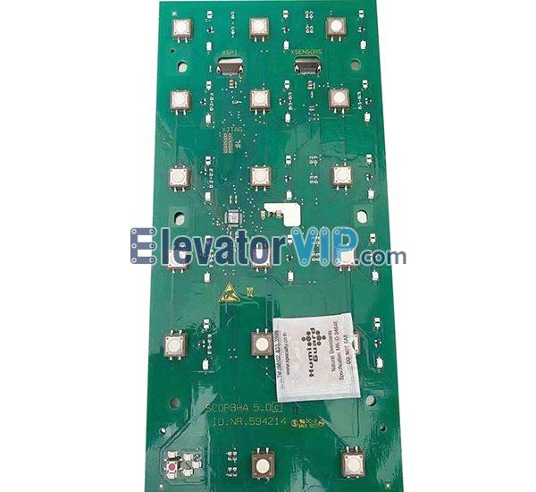 3300 Elevator COP PCB, 3600 Elevator COP Push Button Board, ID.NR.594214, SCOPBHA 5.Q