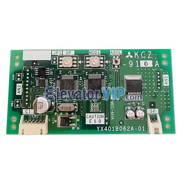 Mitsubishi Elevator Voice Announcement System Board, Mitsubishi Lift Voice Station Board, YX401B062A-01, KCZ-910A, KCZ-910B