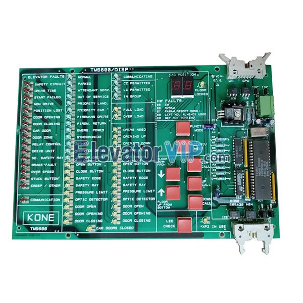 KONE Elevator PCB, KONE TMS600 DISP Board, KM505433G01, KM505430H04, 505433G01
