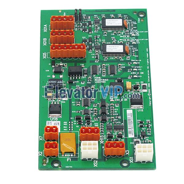 KONE Elevator LCEGTWO Board, KONE Elevator Hoistway Network Power Supply PCB, KM802870G01, KM802870G02, KM802870G03, 802873H03, 50027065H04, KM50027064G01, KM50027064G02, KM50027064G02G03, LCEGTWO2 Board
