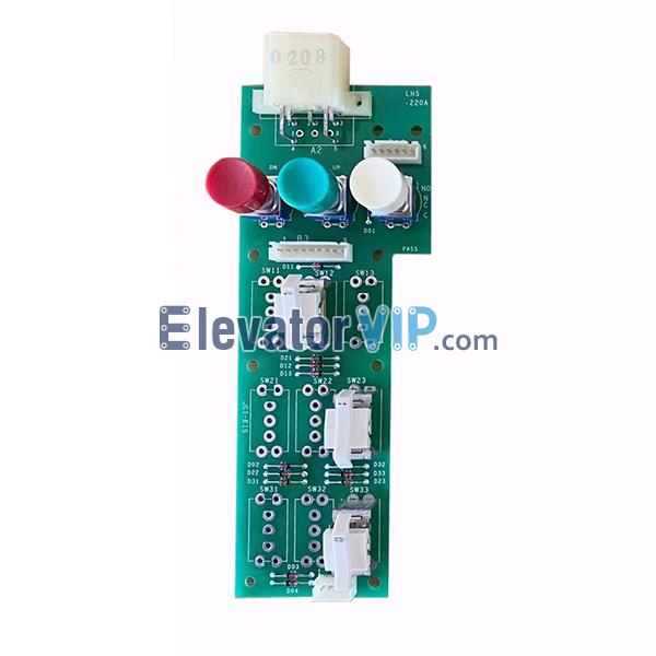 Mitsubishi GPS-III Elevator COP Command Board, Mitsubishi Elevator Push Button Command PCB in Cabin, LHS-220A, LHS-220A, YE601B115A-01, P235706C000G01