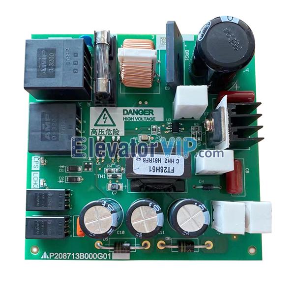 Mitsubishi LEHY-III Elevator Power Supply Board, P208713B000G01