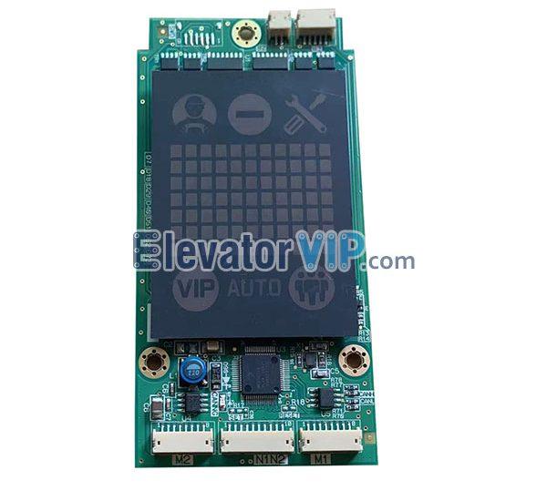 Mitsubishi Elevator LOP Display Board, Mitsubishi Elevator HOP Indicator PCB, P366727B000G01, P366727B000G02, P366727B000G03, P366727B000G04, P366727B000G01L01, P366727B000G01L02