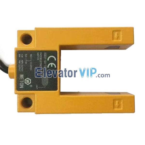 WETON Elevator Photoelectric Switch, WETON Elevator Leveling Sensor, U-shaped Elevator Leveling Sensor, SGD31-GG-TZ2B2