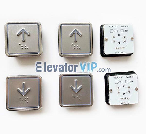 BLT VER 20 4114 Push Button, BLT VER 20 1354 Push Button, TVLA1-1, TVLA2-1, Elevator Push Button