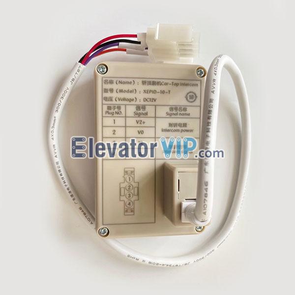 Elevator Cabin Intercom, Elevator Car Phone, XEPID-10-T