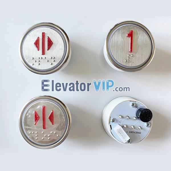 BST Elevator Push Button, SJEC Elevator Push Button, BST Lift Push Button Buzzer, Elevator Push Button Braille, A4N43669, A4N59797